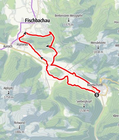 "Karte / Kapellentour (Tour Nr. 10 aus dem ""RadlTraum Süd"")"