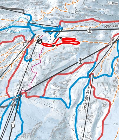 Карта / Stubaier Gletscher - Skating Höhenloipe