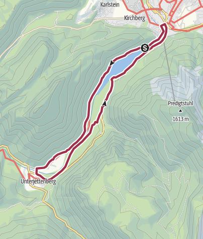 Karte / Saalachsee Rundweg