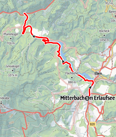 Karte / Mitterbach - Erlaufstausee - Hagengut - Ötscherhias