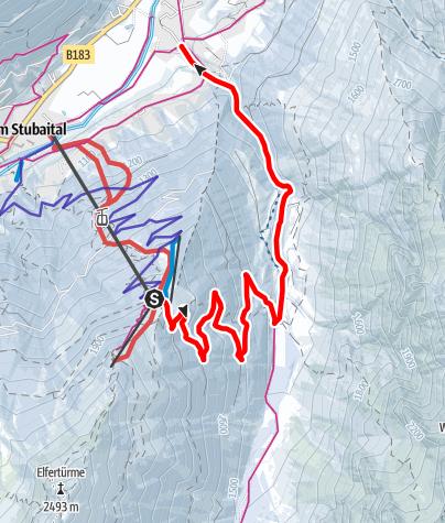 Karte / Rodelbahn Pinnistal