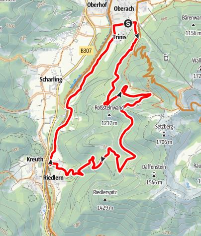 "Karte / Wallberg Moos - Setzberg  (Tour Nr. 35 aus dem ""RadlTraum Süd"")"