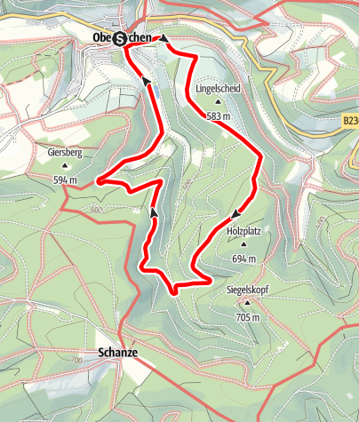 Karte / Rundweg um Oberkirchen (O1)