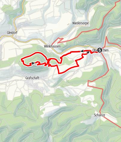 Karte / Rundweg um Oberkirchen (O4)