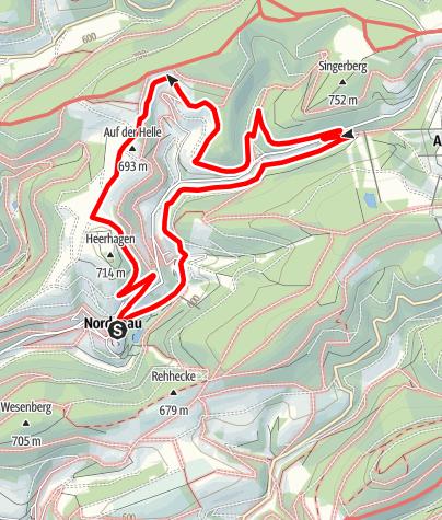 Karte / Rundweg um Nordenau (No4)