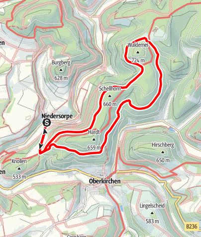Map / Rundweg um Niedersorpe (N1)