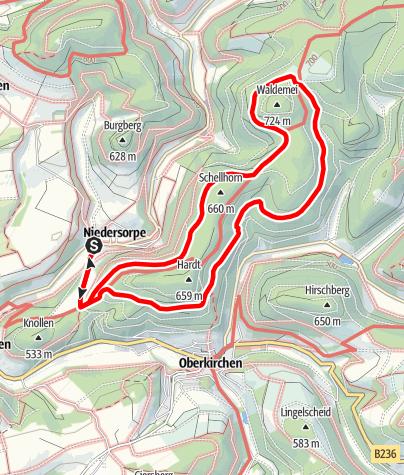 Karte / Rundweg um Niedersorpe (N1)