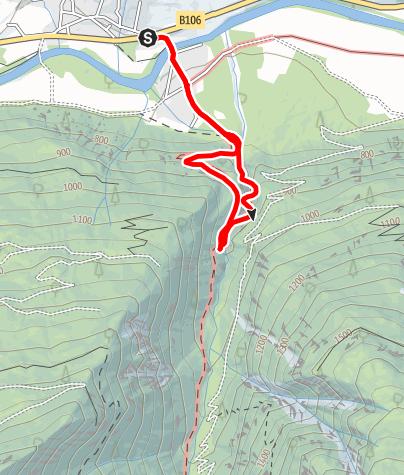 Karte / Raggaschlucht