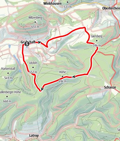Karte / Rundweg um Grafschaft (G4)