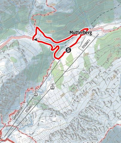 Mapa / Mutterbergalm Rundwanderweg