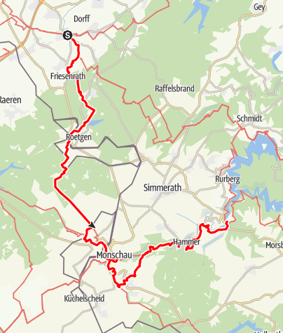 Karte / Eifelsteig, Etappe 1 - 3