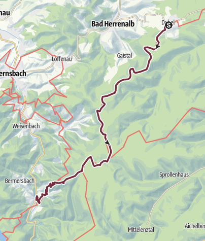 Karte / Westweg-Etappe 02: Dobel - Forbach