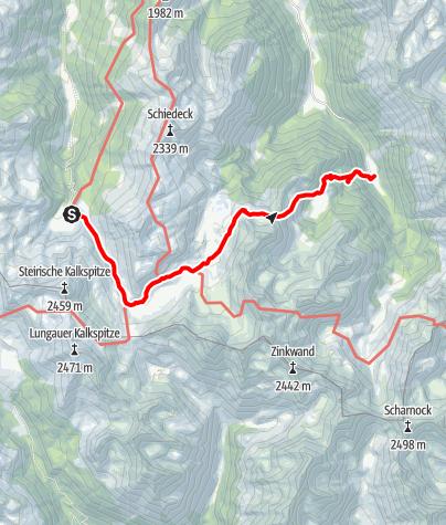 Karte / Bergseeweg - von der Ursprungalm zum Duisitzkarsee