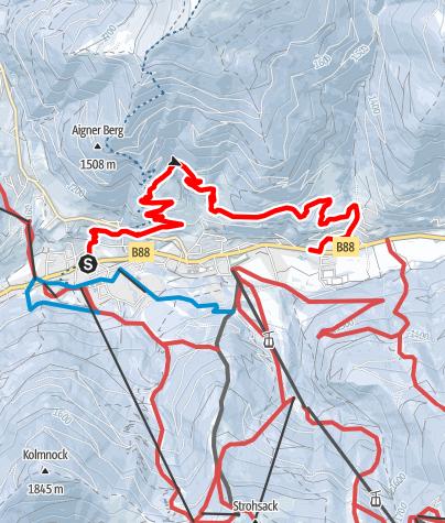 Karte / WW 02: Bad Kleinkirchheim - Panoramaweg