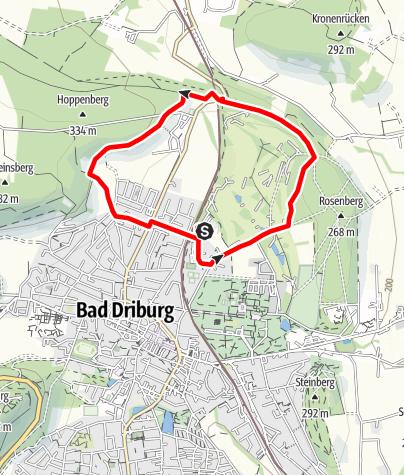 Karte / Nordic Walking auf dem Gesundheits- und Fitness-Parcours Bad Driburg, Tour 3