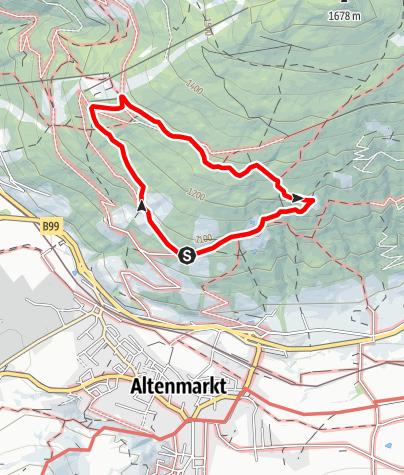 """Karte / Themen-Rundweg """"Bauernregeln"""""""