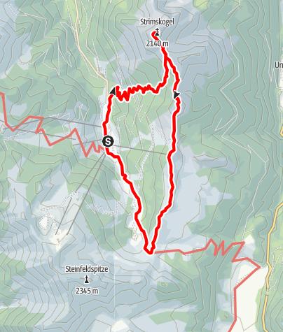 Karte / Strims-Rundweg