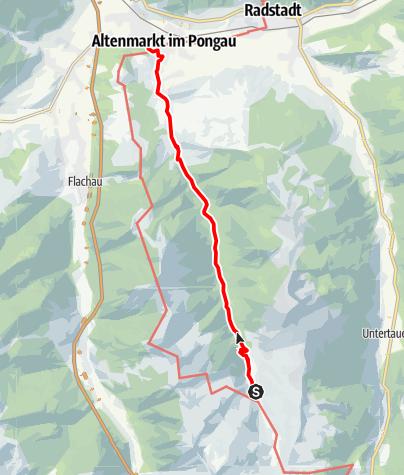 Karte / Zauchbach-Weg nach Altenmarkt