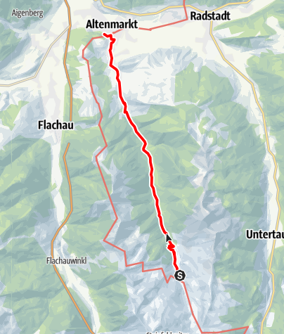 Map / Zauchbach Trail to Altenmarkt