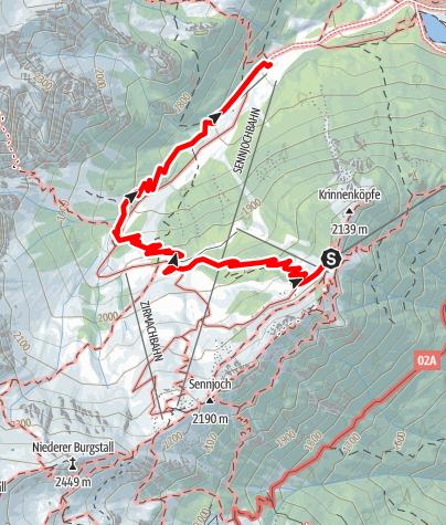 Karte / Naturlehrweg Schlick2000