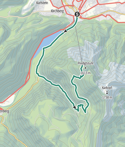Karte / Baumgarten-Predigtstuhl-Berglauf