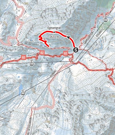 Karte / Sportklettersteig Fernau Express
