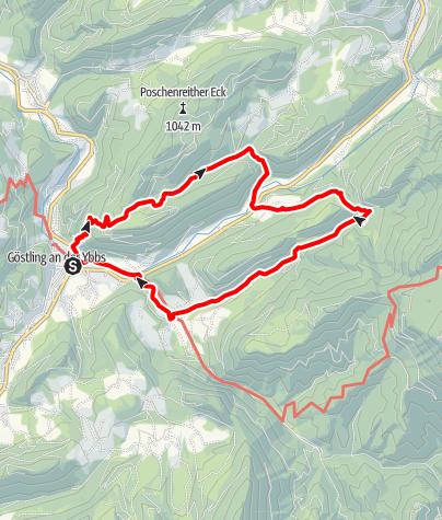 Karte / Rundwanderweg Göstling - Steinbachboden – Stiegengraben – Goldaugraben - Hagenbach
