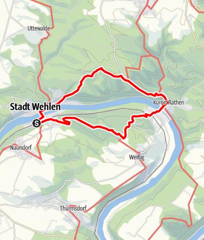 Karte / Zur Basteiaussicht