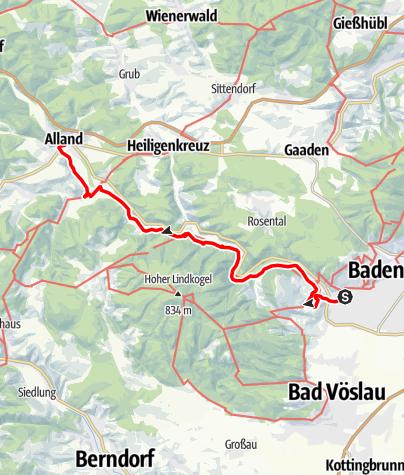 Mapa / KulTourweg Helenental