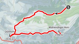 Map / Walmendinger Horn - Grünhorn
