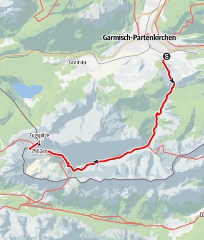 Map / Zugspitztour