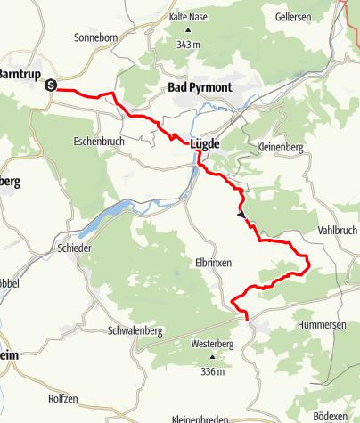 Karte / Der Lügder Weg