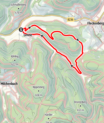 Karte / Rundweg um Lenne (LE1)