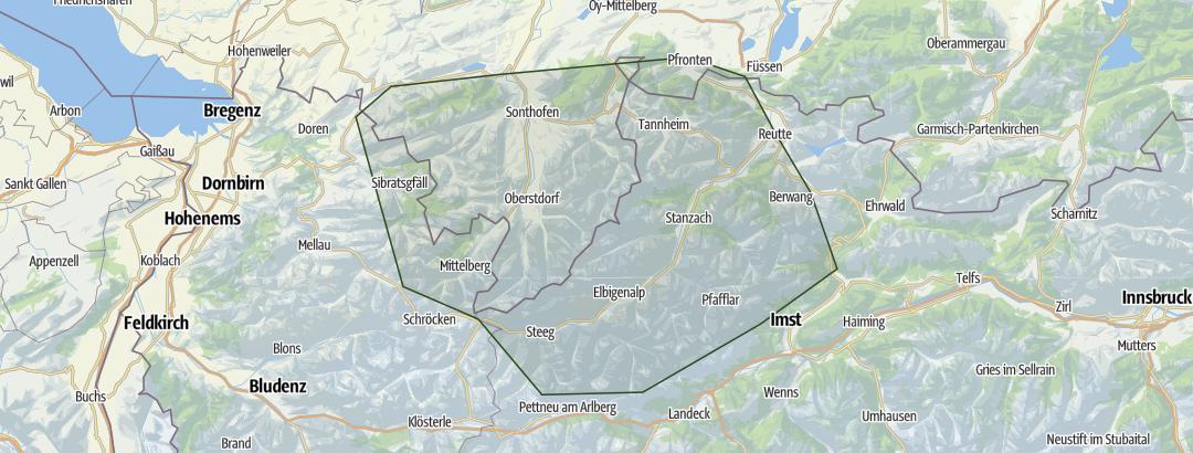 Map / Allgäuer Alpen