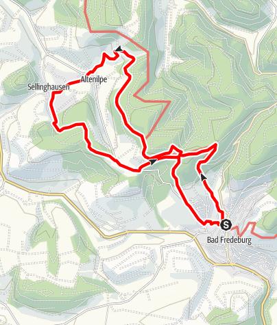 Karte / Rundweg um Bad Fredeburg (BF4)