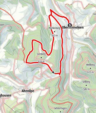 Karte / Rundweg um Oberhenneborn (OH2)