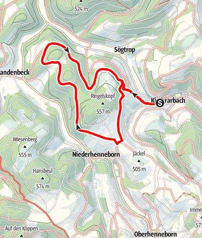 Karte / Rundweg um Kirchrarbach (K6)