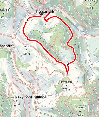 Karte / Rundweg um Kirchrarbach (K8)