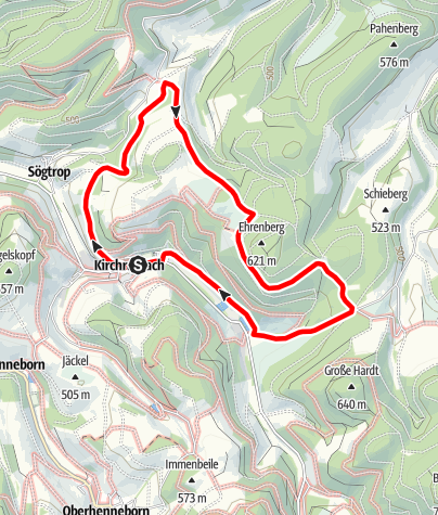 Karte / Rundweg um Kirchrarbach (K10)