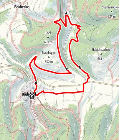 Karte / Rundweg um Bödefeld (B3)