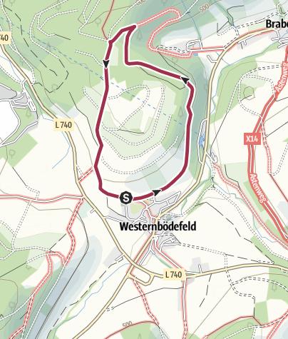 Karte / Rundweg um Westernbödefeld (W1)
