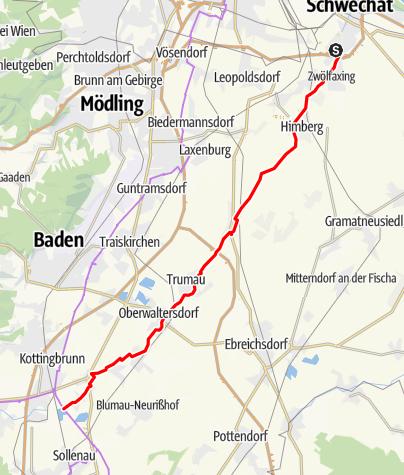 Karte / Triestingau-Radweg
