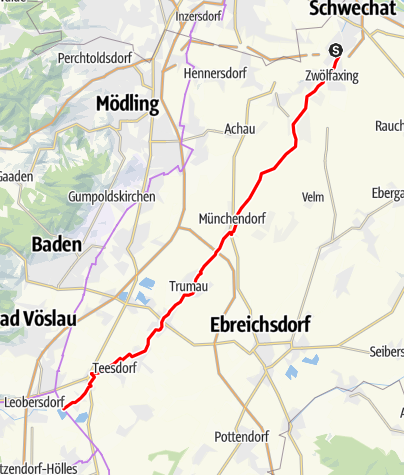 Map / Triestingau cycle route
