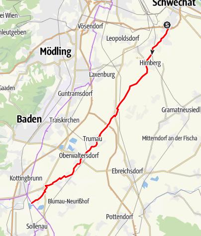 Térkép / Triestingau-kerékpárút