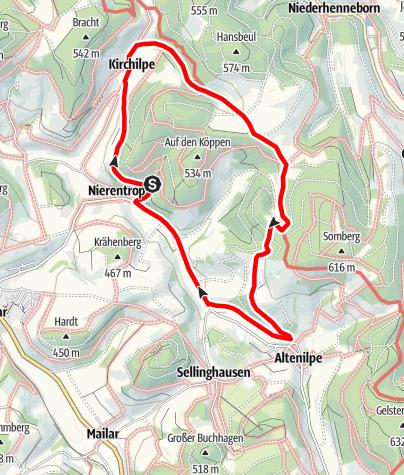Karte / Rundweg um Nierentrop (N19)