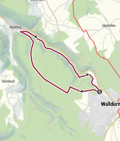 Karte / Marsbachtaltour