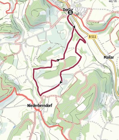 Karte / Rundweg um Dorlar (D12)