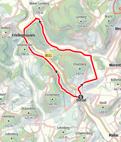 Karte / Rundweg um Dorlar (D15)