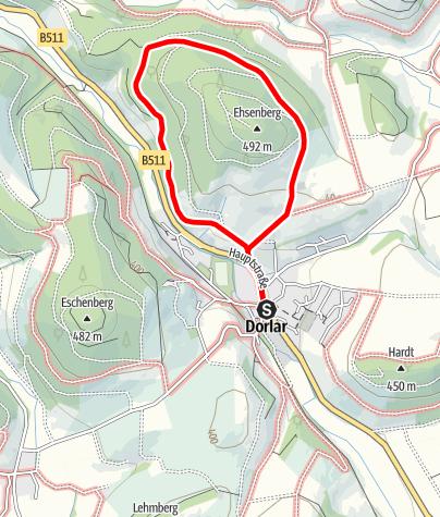 Karte / Rundweg um Dorlar (D16)