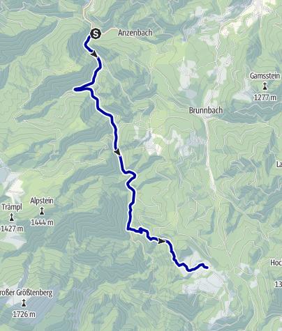 Karte / Am Buchensteig zur Anlaufalm (Etappe des NaturWaldWeg)